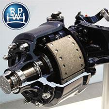 DumpLoada DL1400 | BPW bakaxel med fri styrning, 420×180 bromsaxlar, 150×150 fyrkantsbalk, 10 bultar, 2150 mm band