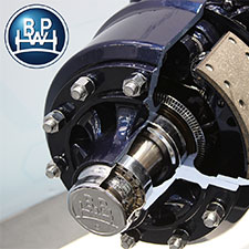 DumpLoada DL600 | BPW kommersiell axel, 410×120 bromsaxlar, 110×110 – 16mm fyrkantsbalk, 10 bultar